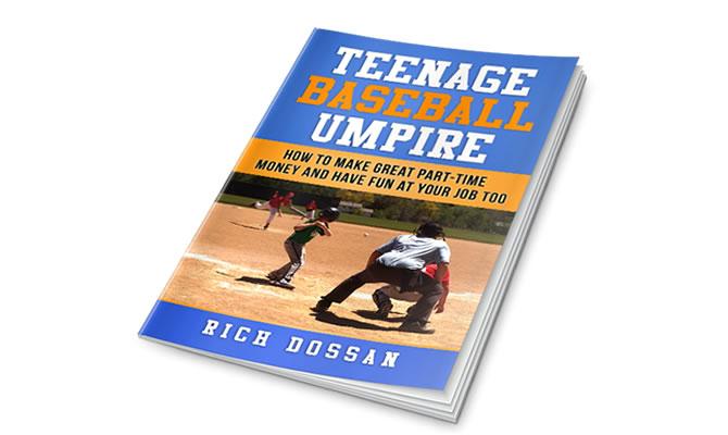 Teenage Baseball Umpire Book Cover