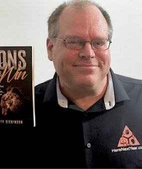 Lions Always Win book with author Marty Dickinson