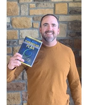 Author Byron Walker with his new book, Small Business Turnaround Plan book.